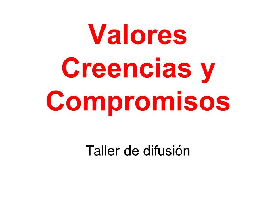 Valores Creencias y Compromisos Taller de difusión