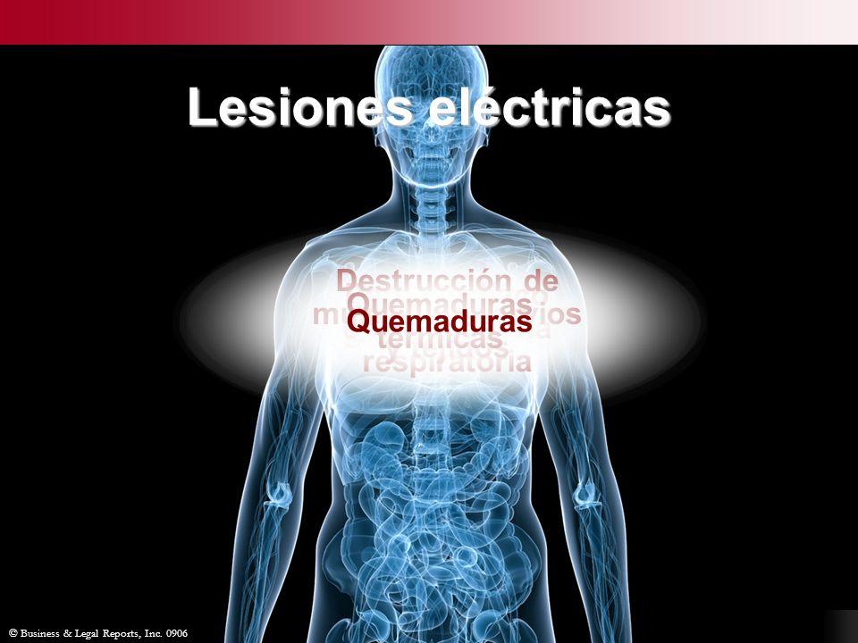 © Business & Legal Reports, Inc. 0906 Lesiones secundarias Paro cardíaco e insuficiencia respiratoria Destrucción de músculos, nervios y tejidos Quema