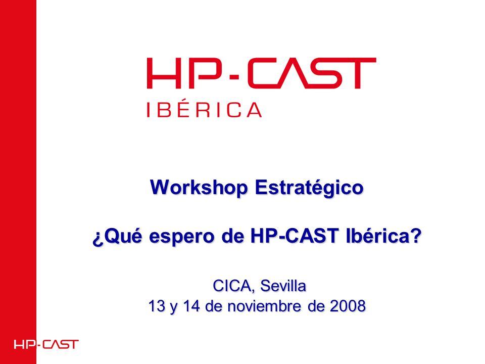 Workshop Estratégico ¿Qué espero de HP-CAST Ibérica CICA, Sevilla 13 y 14 de noviembre de 2008