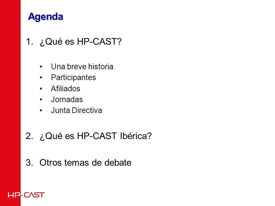 Agenda 1.¿Qué es HP-CAST.