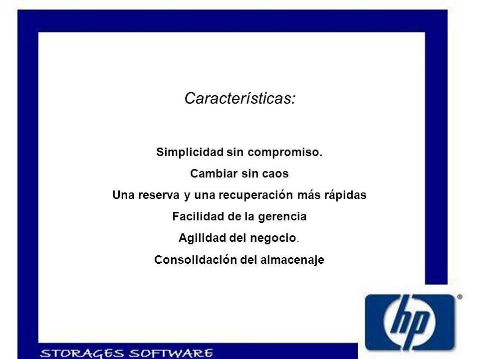 Características: Simplicidad sin compromiso.