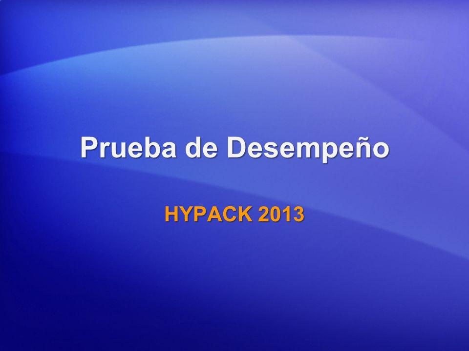 Prueba de Desempeño HYPACK 2013