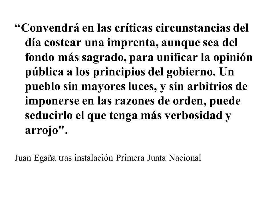 Aurora de Chile, 1812 58 números Pensamiento Independentista Sucedido por el Monitor Araucano Temas: industria, comercio, policía, la civilización de indígenas, la instrucción pública o el derecho constitucional