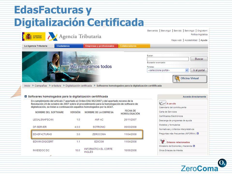 EdasFacturas y Digitalización Certificada