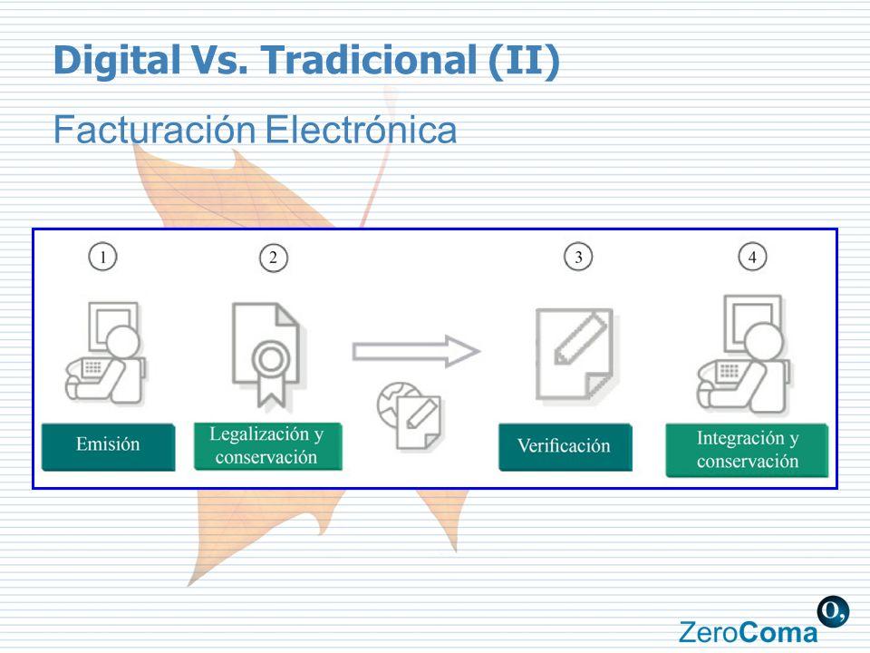 Digital Vs. Tradicional (II) Facturación Electrónica