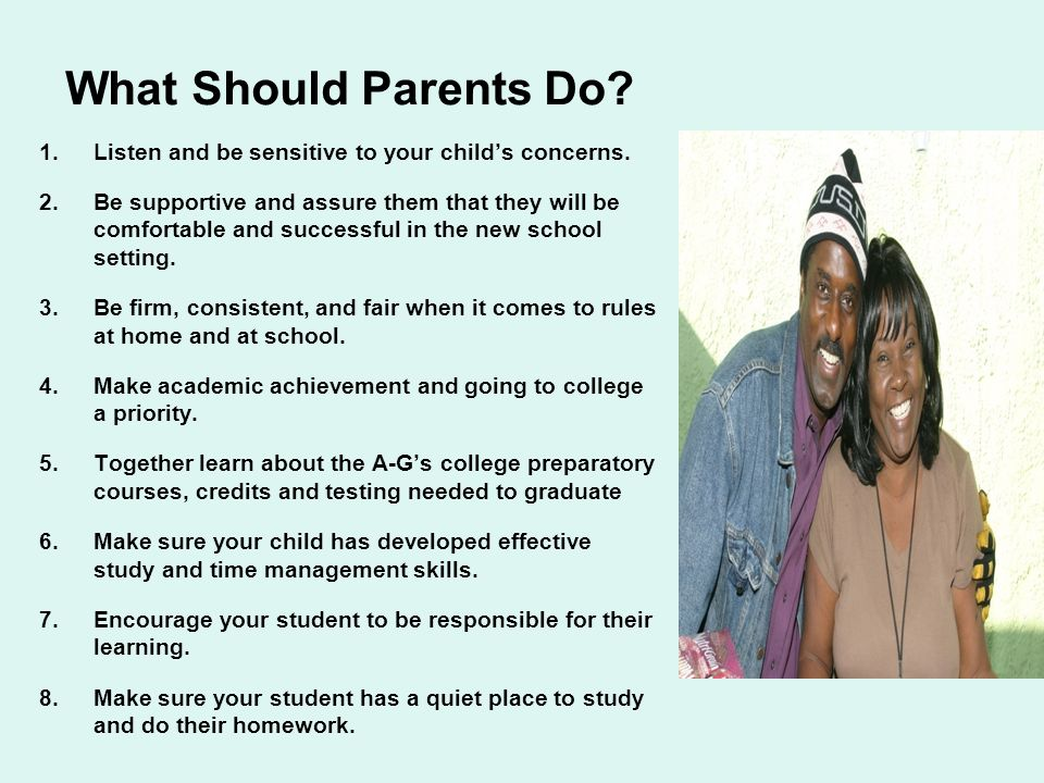 Group Activity: WHAT SHOULD PARENTS DO TO SUPPORT THEIR CHILDS TRANSITION INTO HIGH SCHOOL.