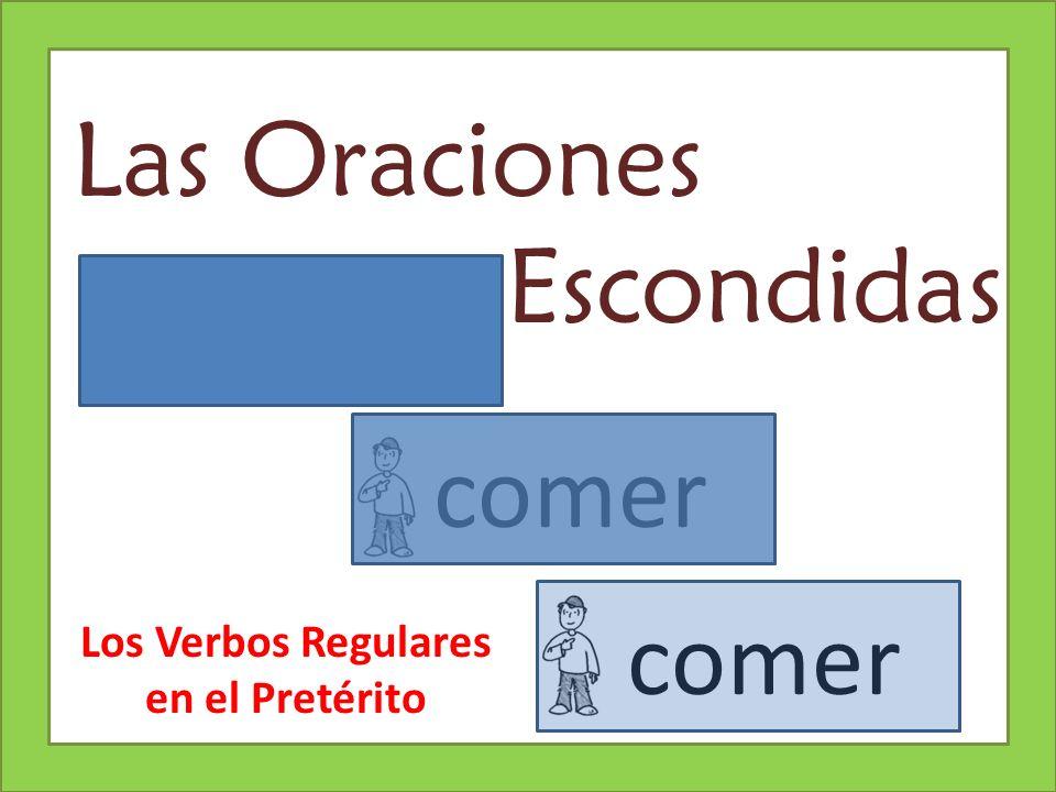 Explicación de la Actividad Review regular preterite tense verb forms and subject pronouns (first slides).