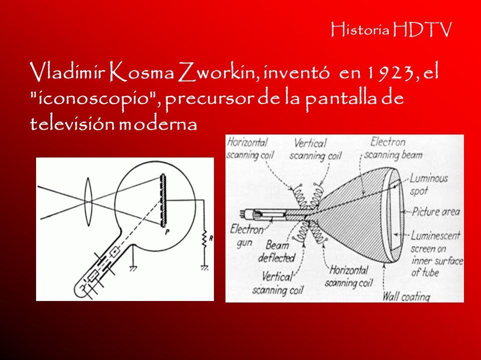 Historia HDTV Vladimir Kosma Zworkin, inventó en 1923, el