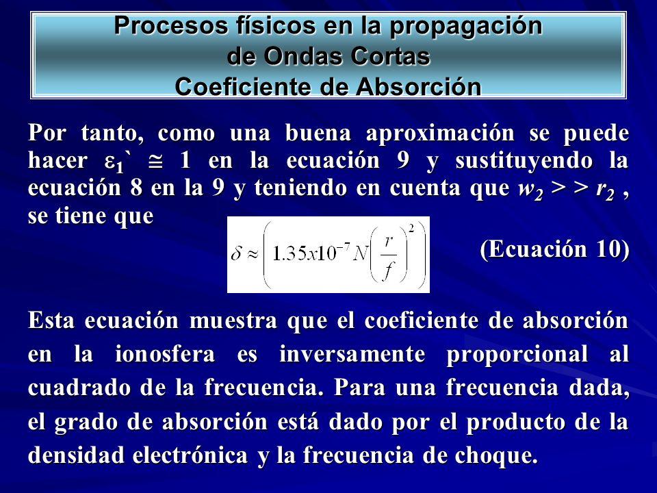 Por tanto, como una buena aproximación se puede hacer 1 ` 1 en la ecuación 9 y sustituyendo la ecuación 8 en la 9 y teniendo en cuenta que w 2 > > r 2