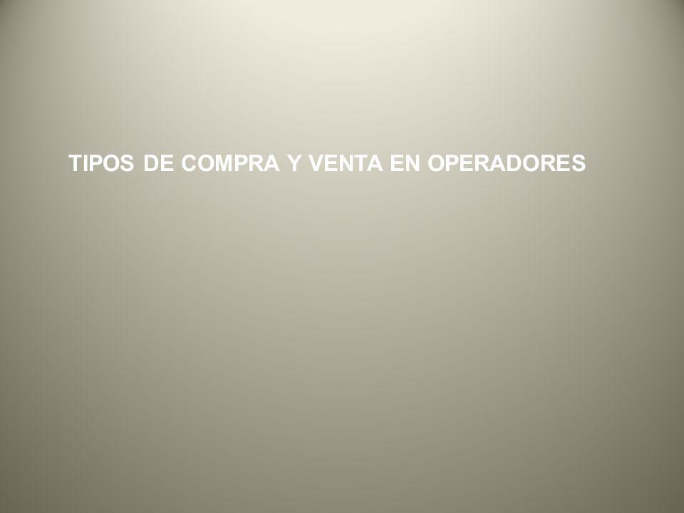 TIPOS DE COMPRA Y VENTA EN OPERADORES