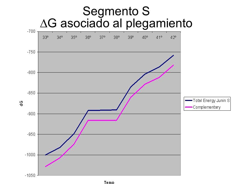 Segmento S G asociado al plegamiento