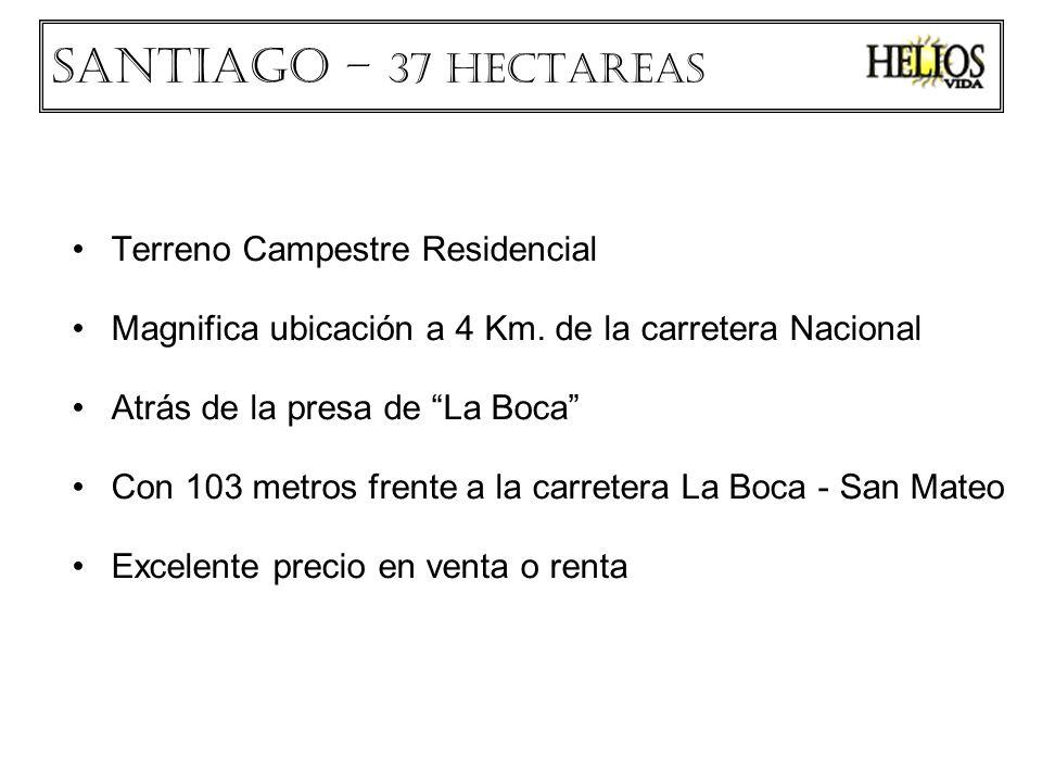Terreno Campestre Residencial Magnifica ubicación a 4 Km. de la carretera Nacional Atrás de la presa de La Boca Con 103 metros frente a la carretera L