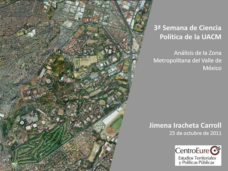 1.El gran reto metropolitano del Valle de México.