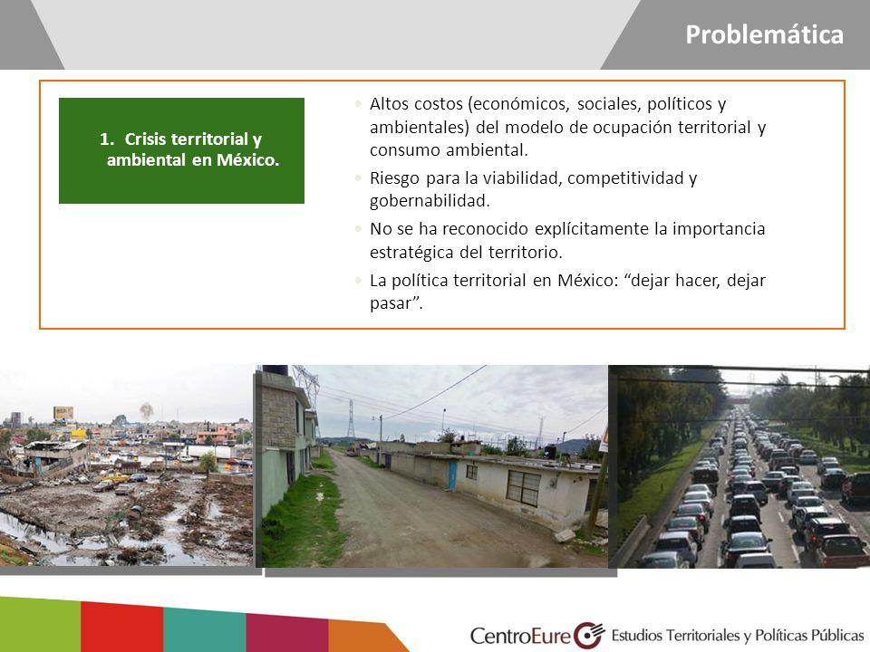 1.Crisis territorial y ambiental en México. Altos costos (económicos, sociales, políticos y ambientales) del modelo de ocupación territorial y consumo