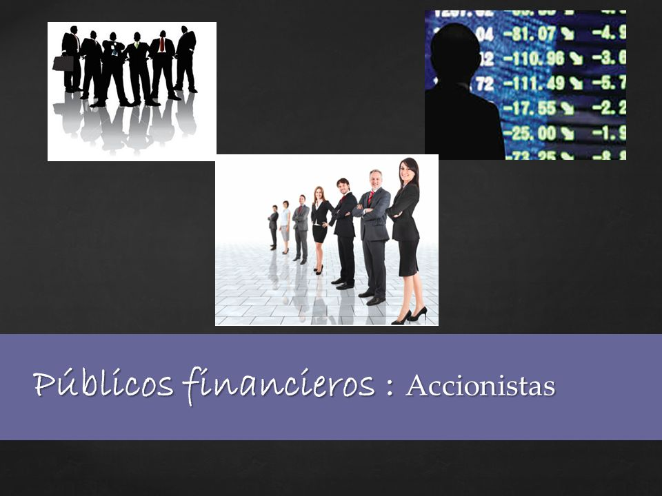 Públicos financieros : Accionistas
