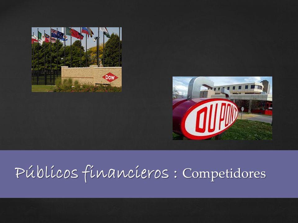 Públicos financieros : Competidores