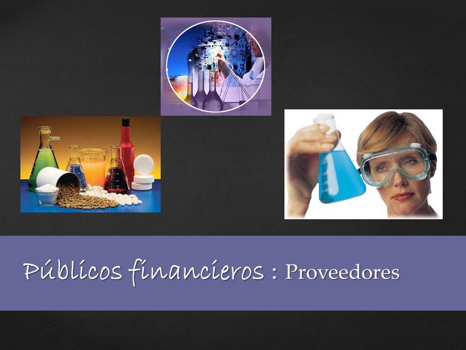 Públicos financieros : Proveedores