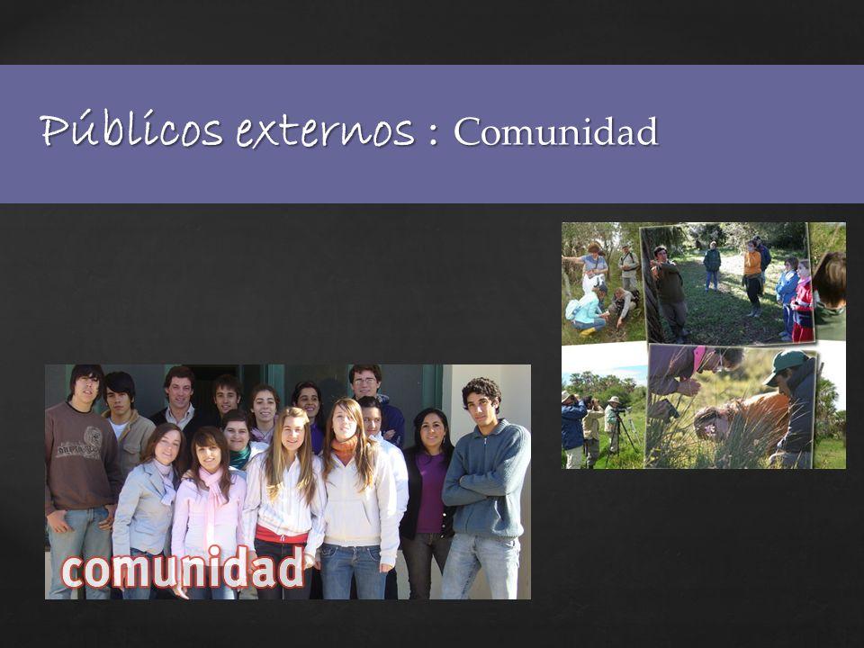 Públicos externos : Comunidad
