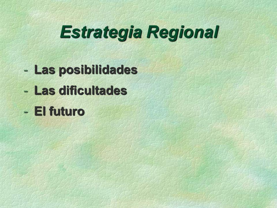Estrategia Regional -Las posibilidades -Las dificultades -El futuro