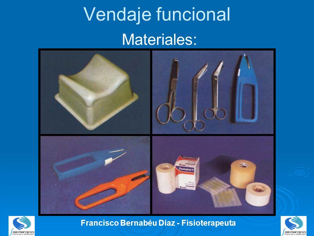 Vendaje funcional Francisco Bernabéu Díaz - Fisioterapeuta Materiales:
