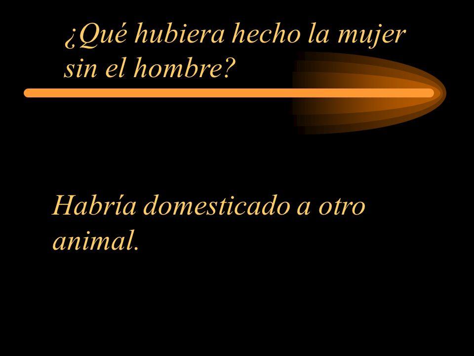 ¿Qué hubiera hecho la mujer sin el hombre? Habría domesticado a otro animal.