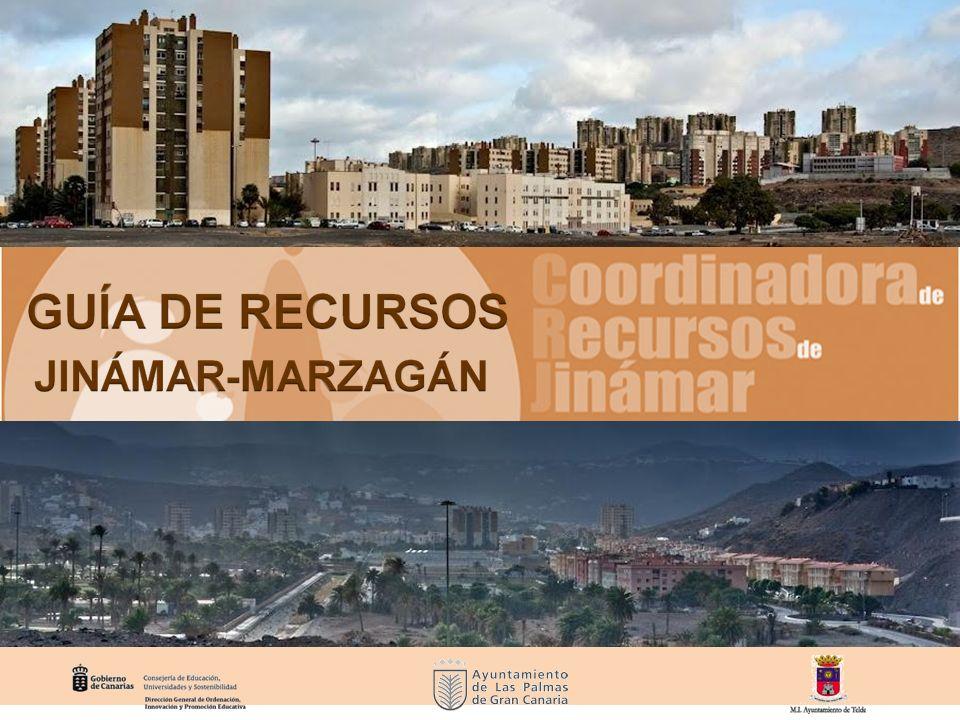 La presente guía pretende ofrecer información básica sobre los recursos comunitarios, educativos, sanitarios y sociales con los que cuentan las poblaciones de Jinámar y Marzagán.