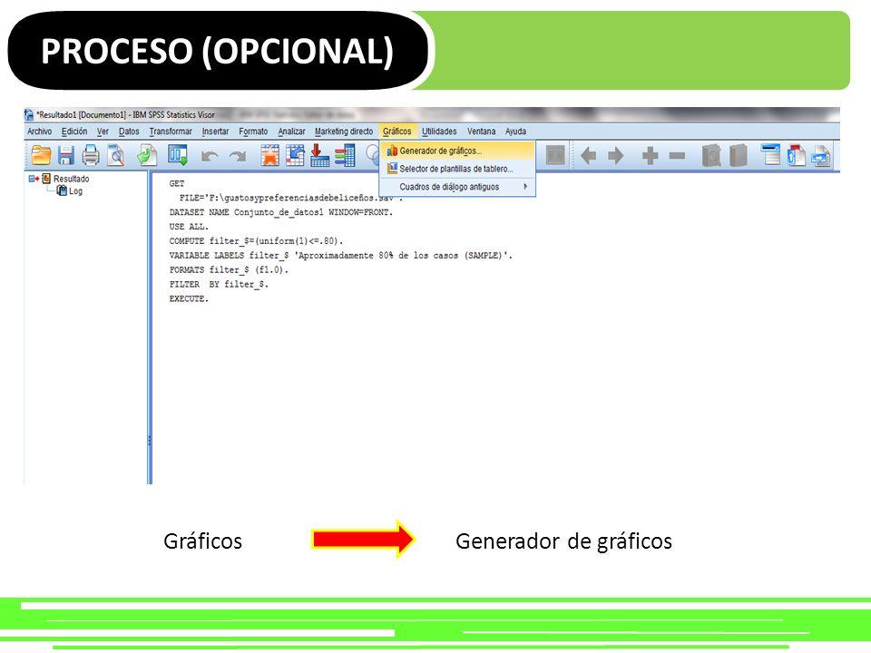 PROCESO (OPCIONAL) Galería Diagrama de dispersión