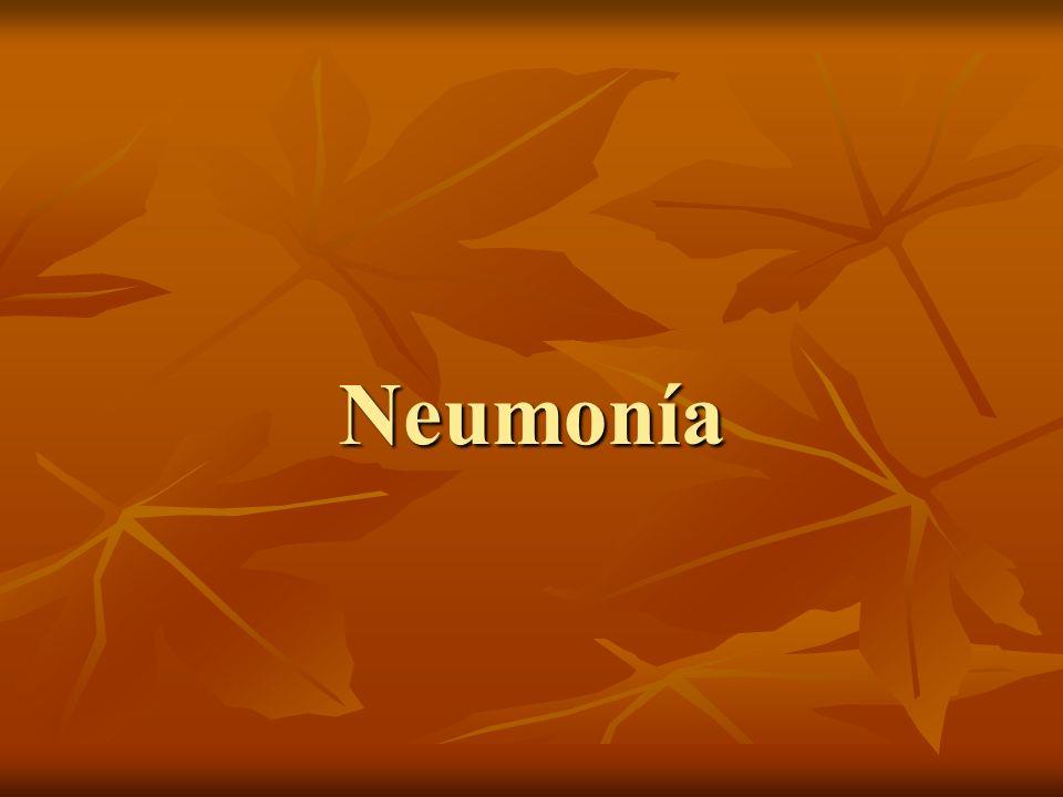 Definición Inflamación del parénquima pulmonar causada por un agente infeccioso.