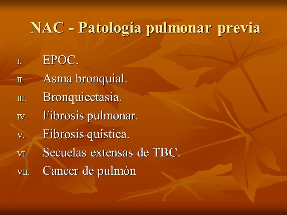 NAH ETIOLOGIA: 1.- Bacilos Gram negativos: Pseudomona aeruginosa, Klebsiella, enterobacter, bacilos entericos.