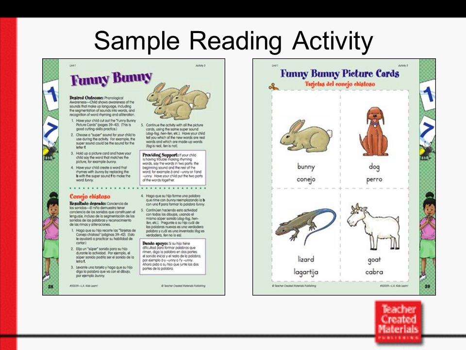 Sample Reading Activity