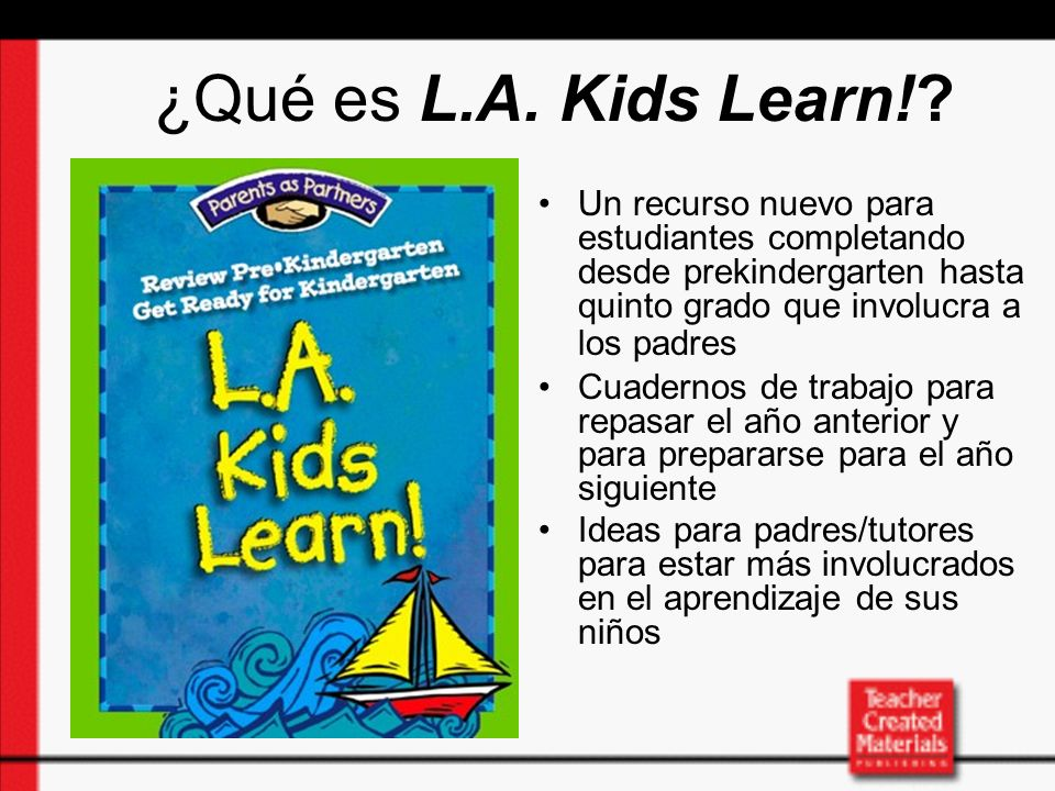 What are the goals of L.A.Kids Learn!.