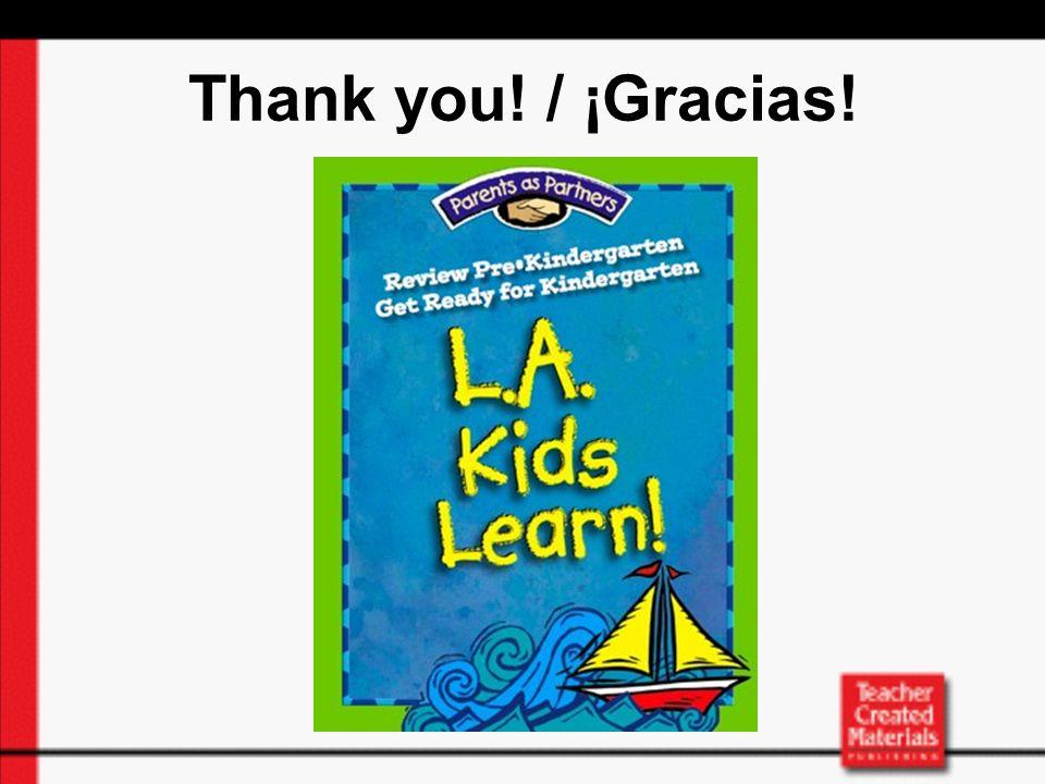 Thank you! / ¡Gracias!