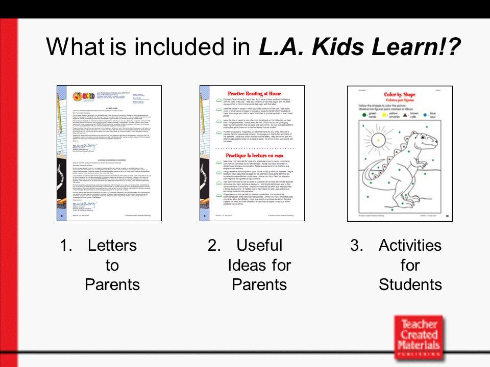 ¿Cómo puedo yo usar L.A.Kids Learn con mi hijo.