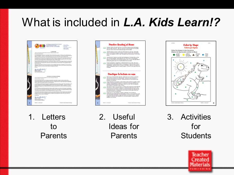 ¿Qué incluye L.A.Kids Learn!.