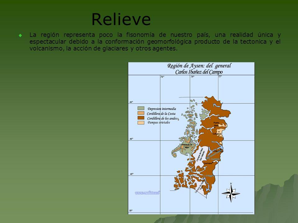 Relieve La región representa poco la fisonomía de nuestro país, una realidad única y espectacular debido a la conformación geomorfológica producto de