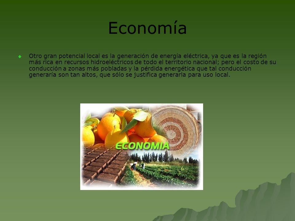 Agricultura y ganadería Los principales cultivos regionales son la papa, avena, arvejas, habas, lechugas, ruibarbo y algunos berries.