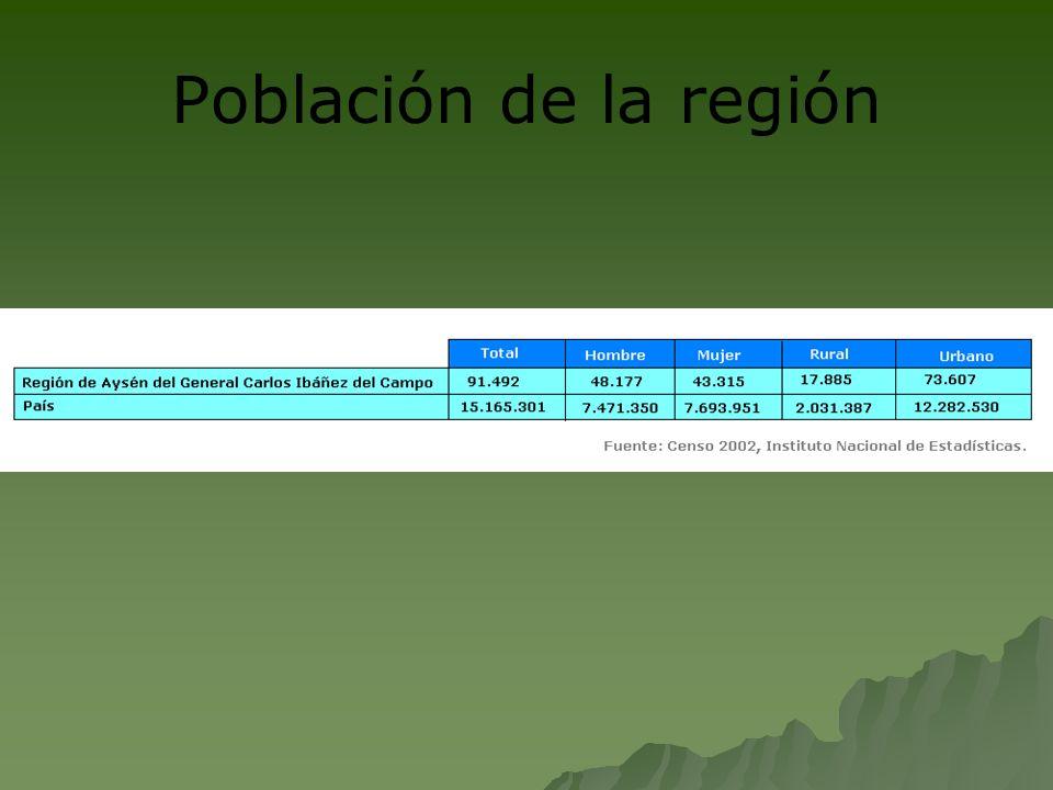 Según cifras del Censo de 2002, la población de la XI Región es de 91.492 habitantes.