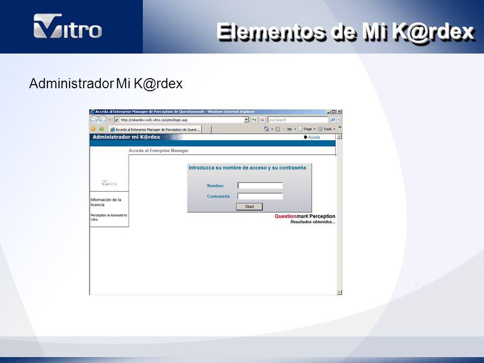 Elementos de Mi K@rdex Administrador Mi K@rdex