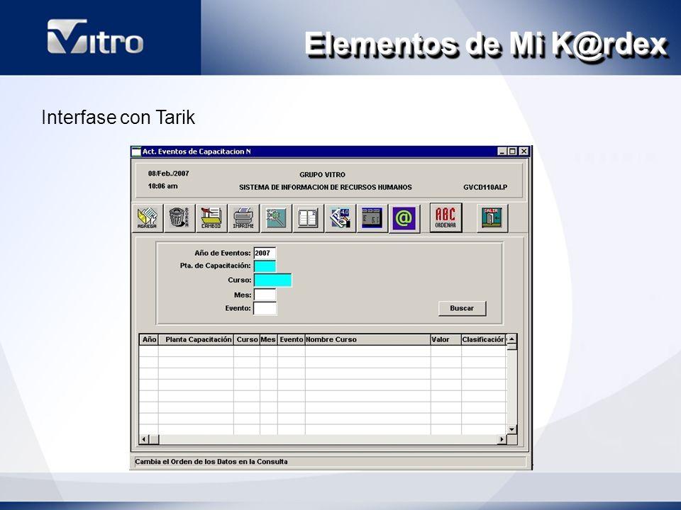 Elementos de Mi K@rdex Interfase con Tarik