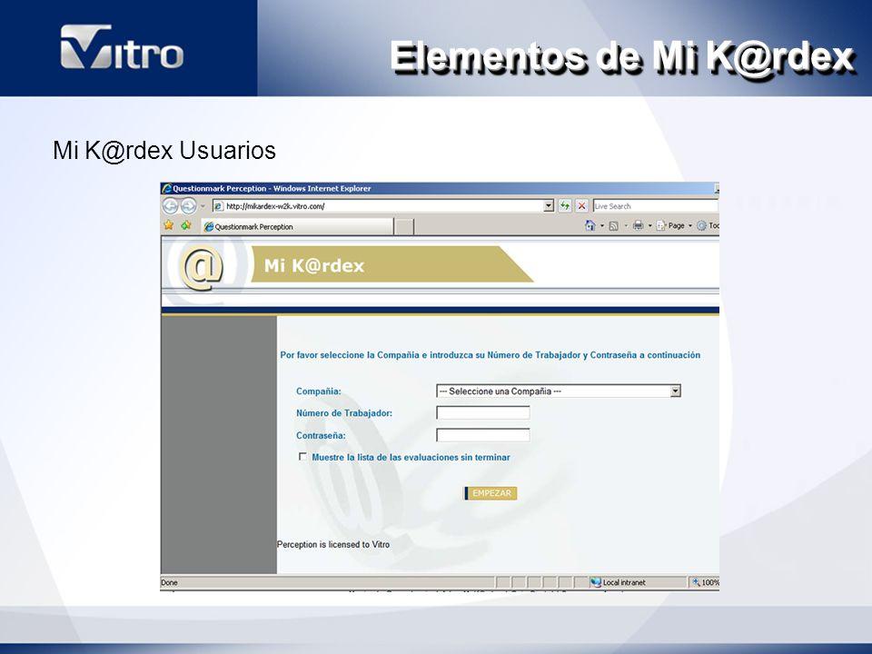 Elementos de Mi K@rdex Mi K@rdex Usuarios