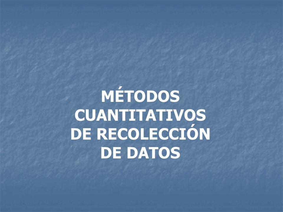 MÉTODOS CUANTITATIVOS DE RECOLECCIÓN DE DATOS