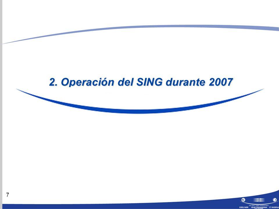 7 2. Operación del SING durante 2007