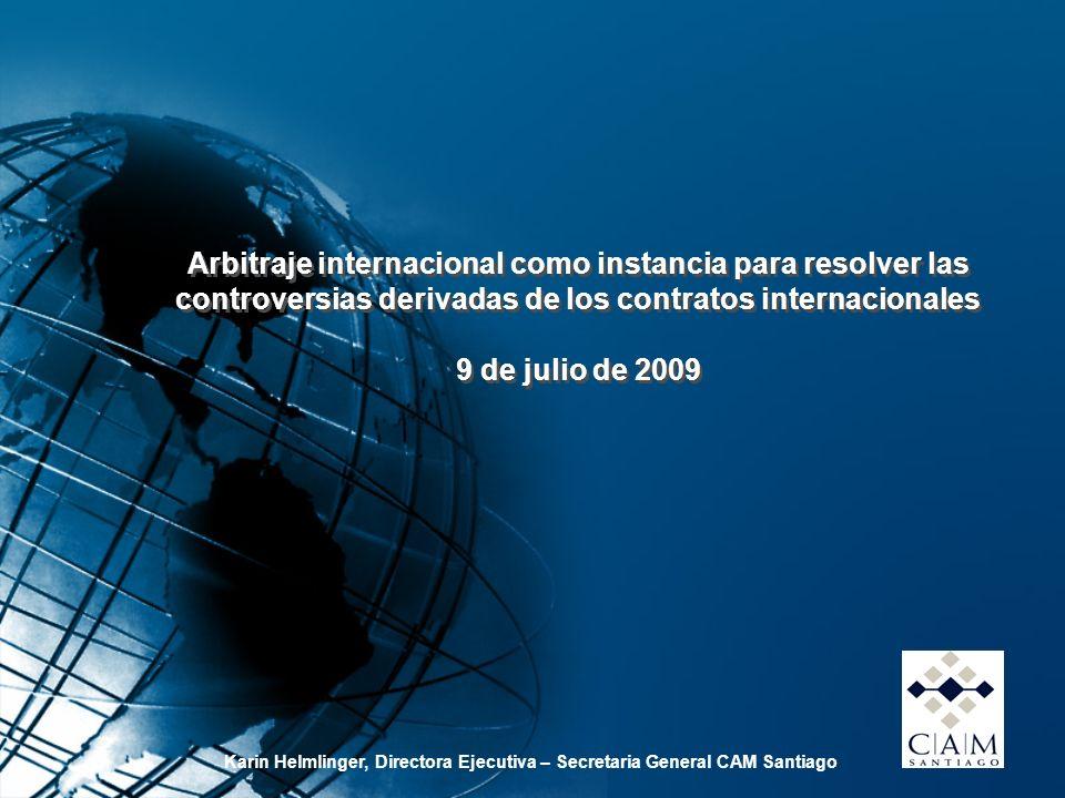 Arbitraje internacional como instancia para resolver las controversias derivadas de los contratos internacionales 9 de julio de 2009 Arbitraje interna