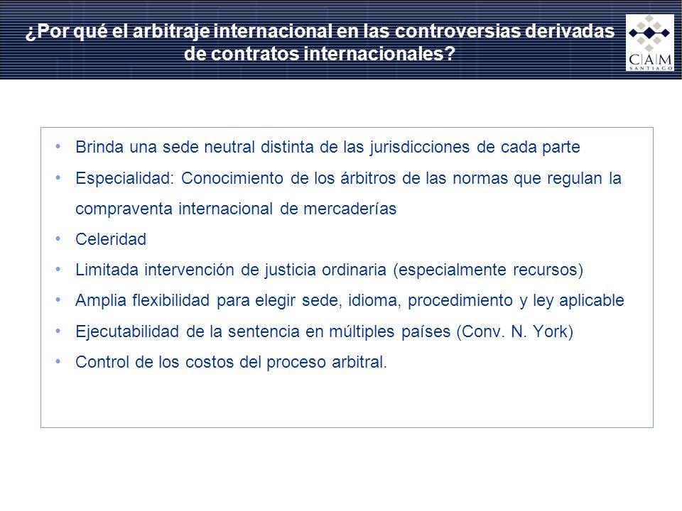 ¿Por qué el arbitraje internacional en las controversias derivadas de contratos internacionales? Brinda una sede neutral distinta de las jurisdiccione