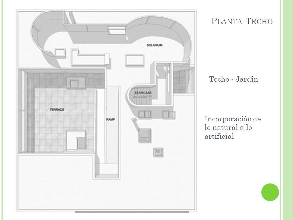 P LANTA T ECHO Techo - Jardín Incorporación de lo natural a lo artificial