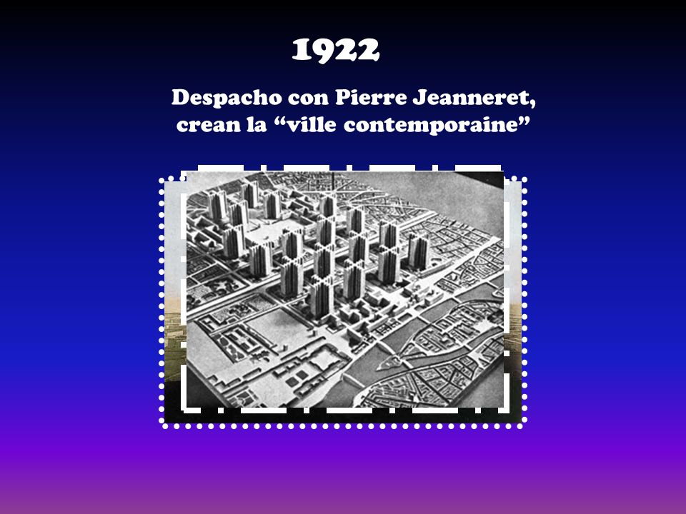 Despacho con Pierre Jeanneret, crean la ville contemporaine 1922