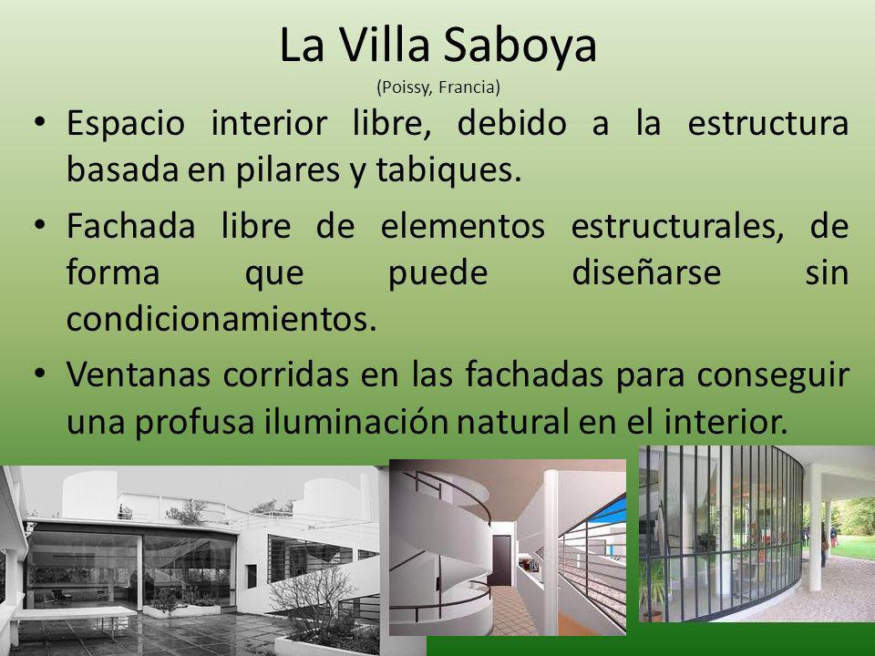 Espacio interior libre, debido a la estructura basada en pilares y tabiques. Fachada libre de elementos estructurales, de forma que puede diseñarse si