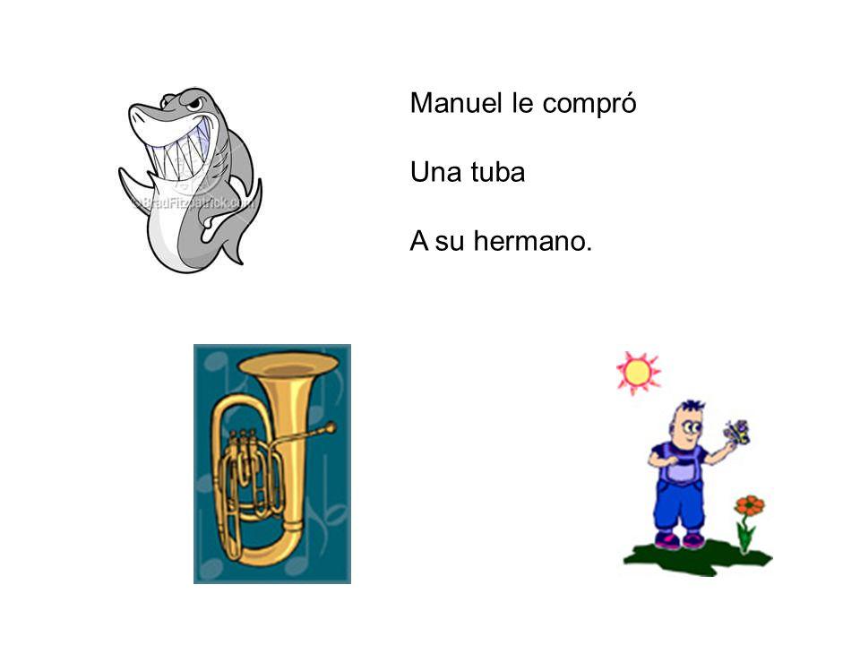 Manuel le compró Una tuba A su hermano.