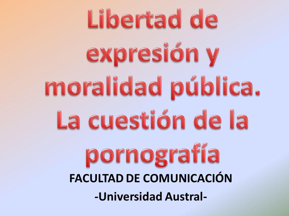 La libertad de expresión y el material obsceno LIBERTAD DE EXPRESIÓN VS.