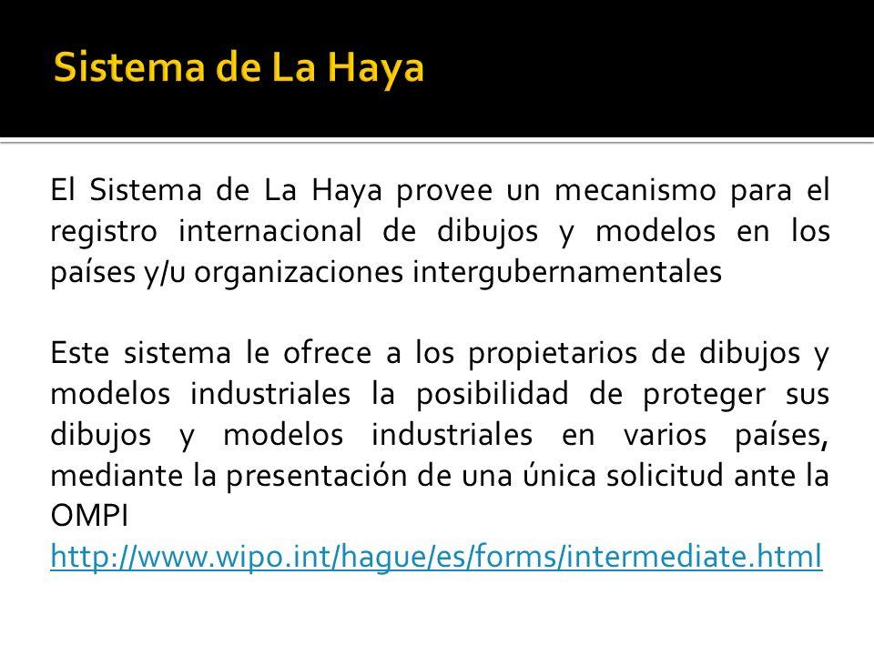 El Sistema de La Haya provee un mecanismo para el registro internacional de dibujos y modelos en los países y/u organizaciones intergubernamentales Es